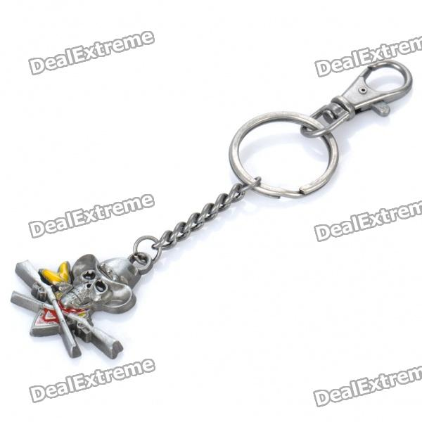 Cool Zinc Alloy Pirate Skull Pendant Keychain cool zinc alloy pirate skull pendant keychain