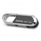 Genuine ADATA Karabiner Clip-Stil USB 2.0 Flash Drive - Black + Silver (4 GB)