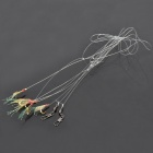 Glow-in-the-Dark Fishing Hooks w/ Fish Skin (6 PCS)