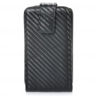 Protective PC Holder PU Leather Cover Case for HTC G16 - Black