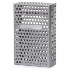 Mesh Aluminum Alloy Cigarette Case - Grey