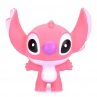 Cute Stitch Figure Vinyl Doll Toy with Sucker Cup - Pink (Size L)