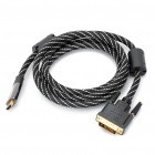 1080P HDMI Male to DVI Male Cable (180CM-Length)