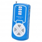 USB Rechargeable MP3 Player FM Radio Speaker w/ TF Slot - Blue + White