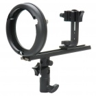 Aluminum Alloy T Type Speedlite Bracket - Black