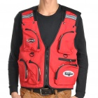 Multi-Function Quick-Dry Fabric Fishing / Photography Vest - Red (Size-L)