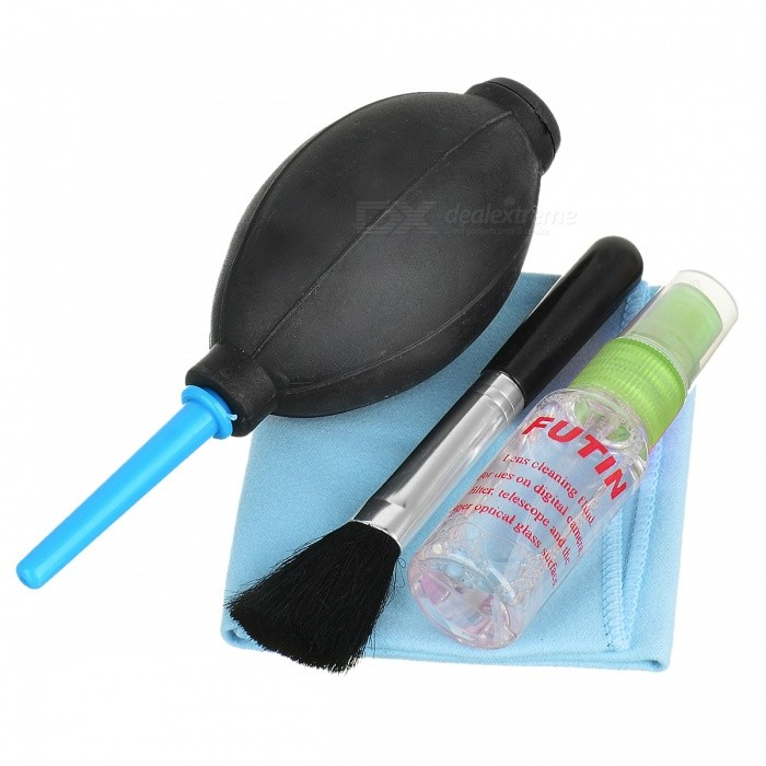 Must-have Cleaning Kit for Digital Camera (Air Blower/Cloth/Brush/Spray) must have