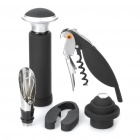 Elegant Bottle Stopper + Foil Cutter + Opener + Vacuum Pump + Wine Pourer Tools Set(5-Piece Set)