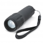 240LM 5300-5800K LED Focusing 3-Mode White Light Flashlight Torch - Black (4.5V/1A)