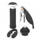 High Quality Wine Bottle Stopper + Foil Cutter + Wine Opener + Vacuum Pump Tools Set (4-Piece / Set)