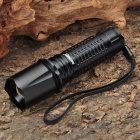 CREE Q5 240LM 3300/6000K 3-Mode White LED Flashlight Torch - Black (1 x 18500/3 x AAA)