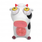 Pop Out Eyes Doll Stress Reliever Relief Squeeze Toy - Cow (White + Black)