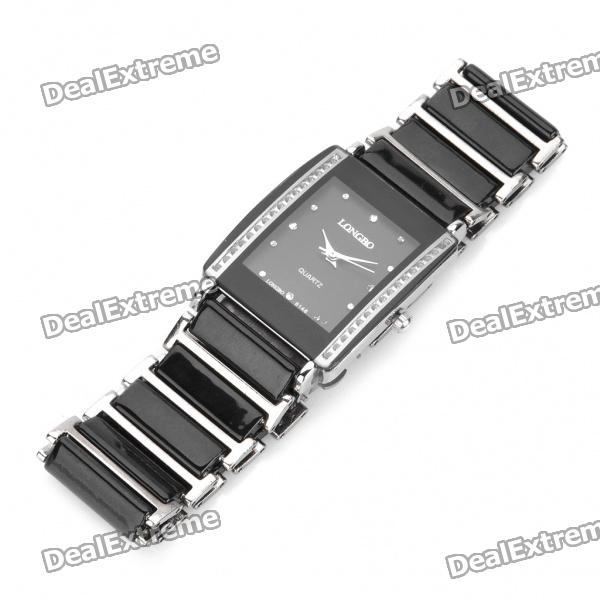 Ceramic Wrist Quartz Watch for Man - Black + Silver (1 x 377) pentagon dial five movement men s sports analog quartz wrist watch black silver 5 x 377 page 7