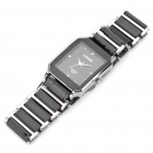 Ceramic Wrist Quartz Watch for Man - Black + Silver (1 x 377)