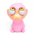 Pop Out Eyes Doll Stress Reliever Relief Squeeze Toy - Monkey (Pink)