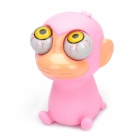 Salir Doll Eyes Stress Relief Alivio Squeeze Toy - Monkey (Rosa)
