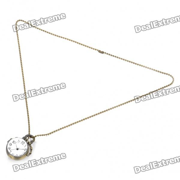 Stylish Metal Pendant Quartz Watch with Neck Chains (1 x 377) vintage metal pocket quartz watch with chains penguins 1 377