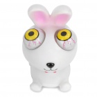 Pop Out Eyes Doll Stress Reliever Relief Squeeze Toy - Rabbit (White + Pink)