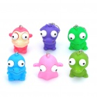 Stress Reliever Pop Out Eyes Doll Relief Squeeze Toy with Keychain (Set of 6)