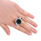 Moda Ring Finger Watch - Preto + Prata (1 x 377)