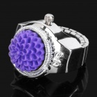 Fashion Finger Ring Watch - Silver + Purple (1 x 377)