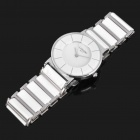 Ceramic Wrist Quartz Watch for Man - White + Silver (1 x 377)