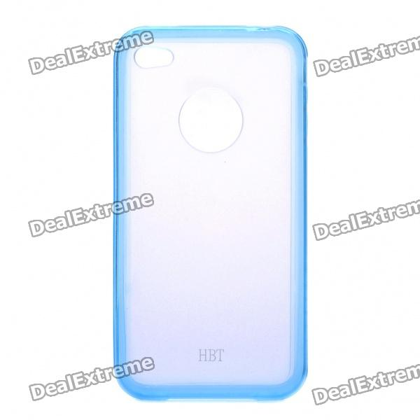 Stylish Protective Back Case for iPhone 4 - Transparent Blue