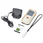 "Refurbished Nokia 7360 Barphone w/ 1.8"" LCD Screen, Single SIM, GSM Triple-band and Java - Golden"