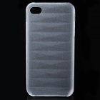 Protective Matte Frosted PC Back Case for Iphone 4/4S - Transparent White