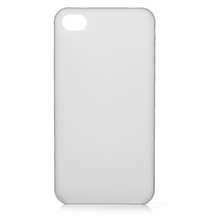 Protective Matte Frosted PC Back Case for Iphone 4/4S - Transparent Dark Grey