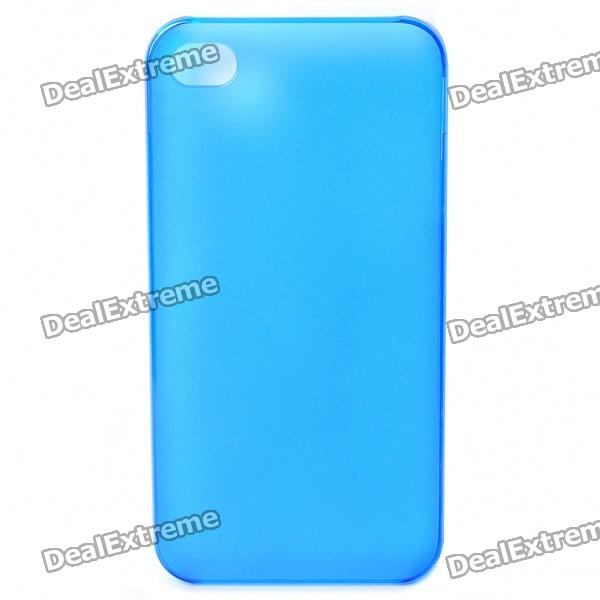 Protective Matte Frosted PC Back Case for Iphone 4/4S - Blue