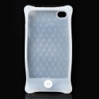 Protective Anti-Shock Silicone Case with Screen Protector + Hand Strap for iPhone 4/4S - White