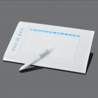 H580 USB Graphics Drawing Tablet with Stylus Pen (White + Blue)