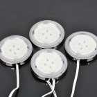 1W 3300K 310LM 12-LED Warm White Light Cabinet Lights (4-Piece Pack)