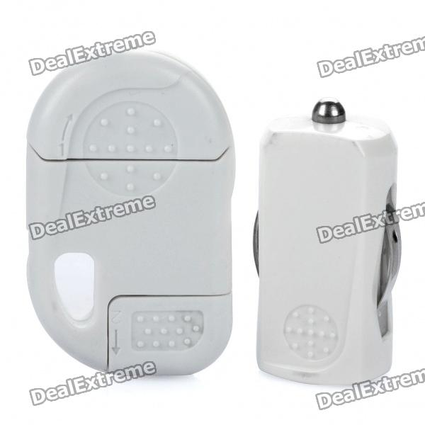 Car Charger w / USB Charging & Datenkabel für iPhone 3GS / 4 / 4S / iPod Touch 4 - White (DC 12 ~ 24V)