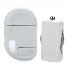 Car Charger w/ USB Charging & Data Cable for iPhone 3GS / 4 / 4S / iPod Touch 4 - White (DC 12~24V)