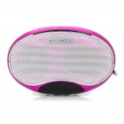 "1,3 ""LED-Screen Akku MP3-Player Musik-Lautsprecher mit FM / TF / USB / Ohrhörer Slot (Deep Pink)"