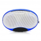 "1.3"" LED Screen Rechargeable MP3 Player Music Speaker with FM / TF / USB / Earphone Slot (Blue)"