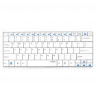 Rapoo E9050 Ultra-thin Wireless 82-Key Keyboard - White (2 x AAA)