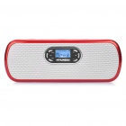 "1.0"" LCD Stylish Rechargeable MP3 Player Music Speaker with FM / TF / USB / Earphone Slot (Red)"