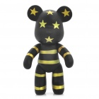 Fashion 7&quot; Momo Bear Cartoon Toy - Black + Yellow