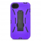 Stylish Standable Protective Case for iPhone 4S - Black + Purple