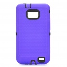 Creative Protective Case for Samsung i9100 - Black + Purple