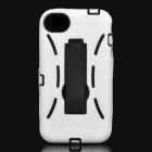 Stylish Standable Protective Case for iPhone 4S - Black + White