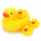 Mummy & Babies Floating Ducks Family Bath Toys w/ Sound Effect for Children - Yellow (Set of 4)