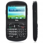 "TCL i808 QWERTY GSM Touch Barphone w/ 2.4"" Resistive, Dual SIM, Dualband, Wi-Fi and Java - Black"