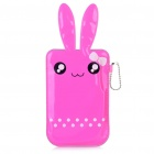 Cartoon Hase Stil Mobile Phone Protective PU Tasche - Pink