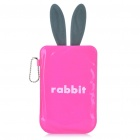 Cartoon Rabbit Style Mobile Phone Protective PU Case Pouch - Pink