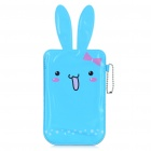 Cartoon Rabbit Style Mobile Phone Protective PU Case Pouch - Blue