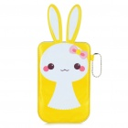 Cartoon Rabbit Style Mobile Phone Protective PU Case Pouch - Yellow
